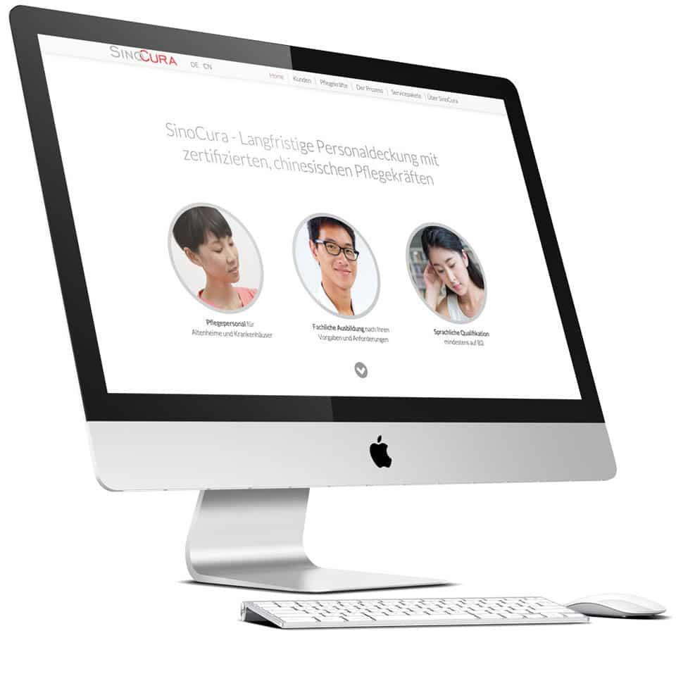 Homepage Design Homepage erstellen – Sinocura by eyelikeit Webdesign Düsseldorf