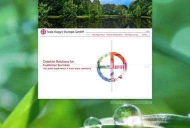Webdesign Beispiel für Industrie - Toda Kogyo Europe GmbH
