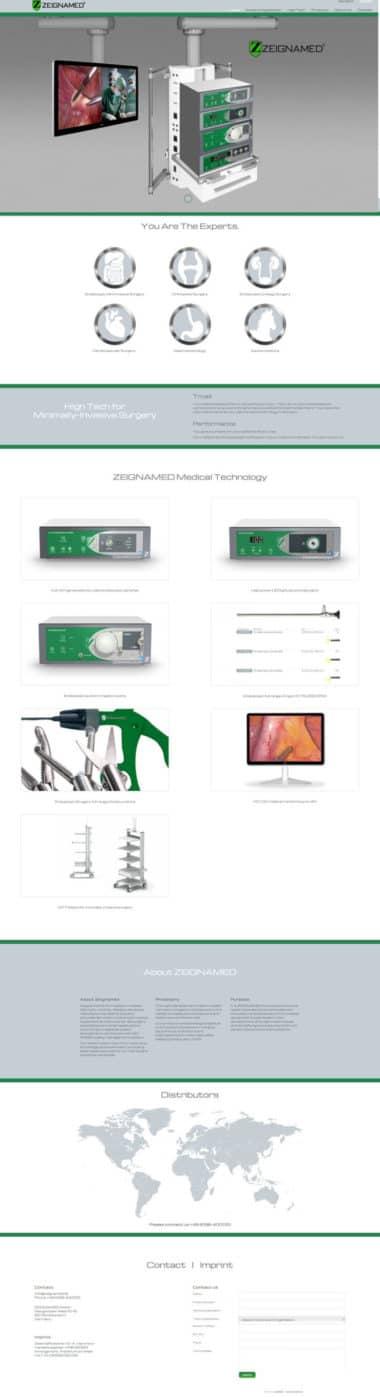 Webdesign für Service - Zeignamed