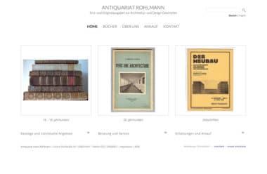 Webdesign Beispiel für Architektur - Antiquariat Rohlmann