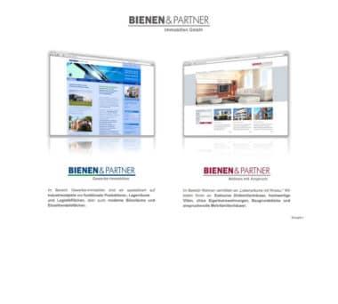 Webdesign Beispiel für Immobilien - Bienen & Partner