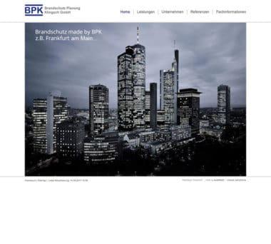 Webdesign Beispiel für Architektur - BPK Fire