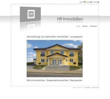 Webdesign Beispiel für Immobilien - HR Immobilien