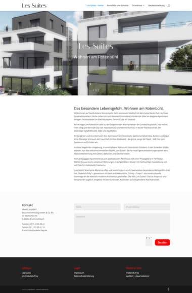 Webdesign Architektur Immobilien - Les Suites, Vrakela & Frey