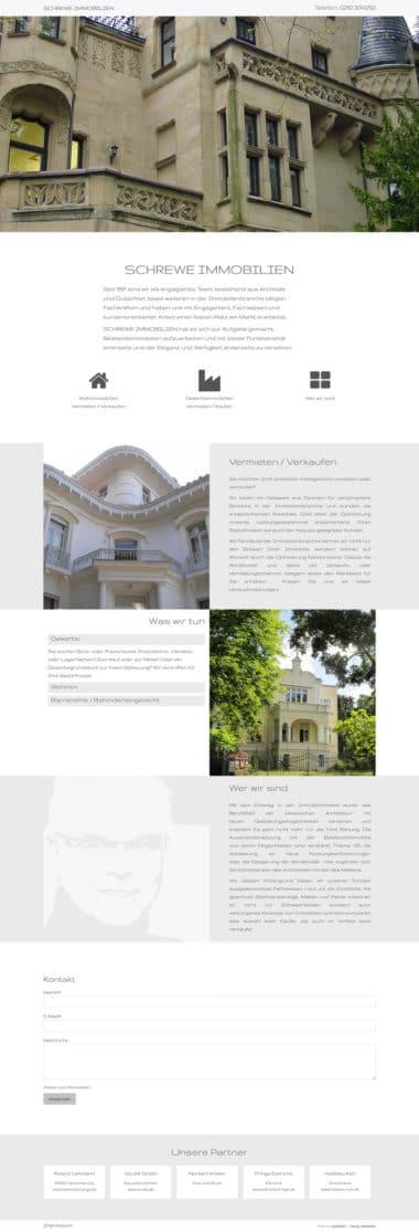 Webdesign Beispiel für Immobilien - Schrewe Immobilien