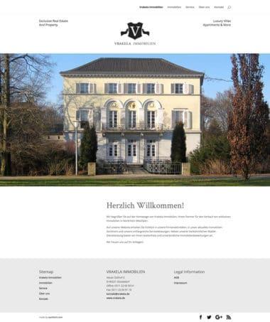 Webdesign Architektur Immobilien - Vrakela Immoblilien