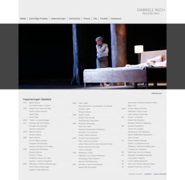 Webdesign Beispiel für Kunst - Gabriele Rech, Regisseurin