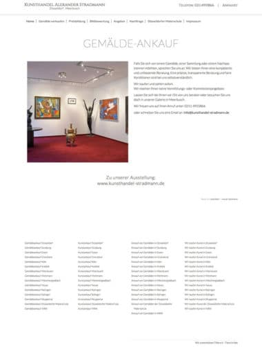 Webdesign für die Kunst - Kunsthandel Alexander Stradmann, Gemälde Ankauf Düsseldorf