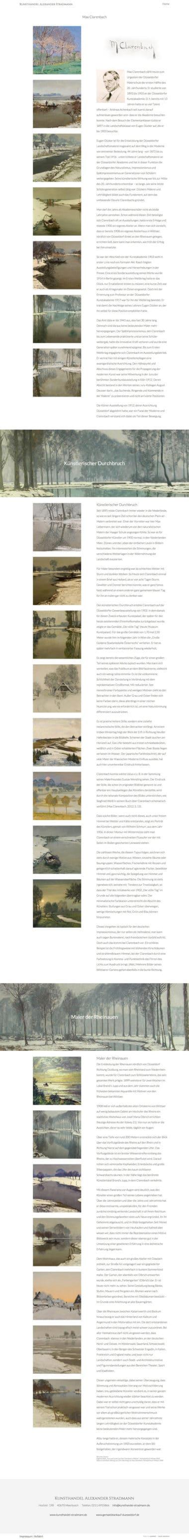 Webdesign für die Kunst - Kunsthandel Alexander Stradmann, Max Clarenbach