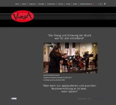 Webdesign Beispiel für Kunst - Kammerensemble VivazzA