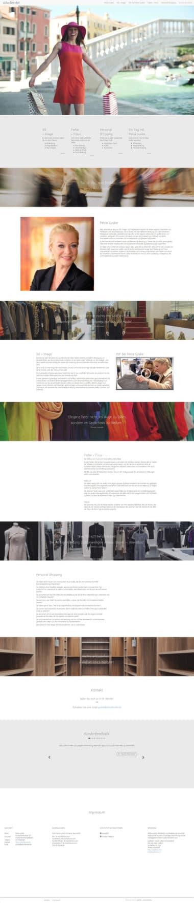 Webdesign für Fashion - stilvollendet - Stil-, Image- und Farbberatung
