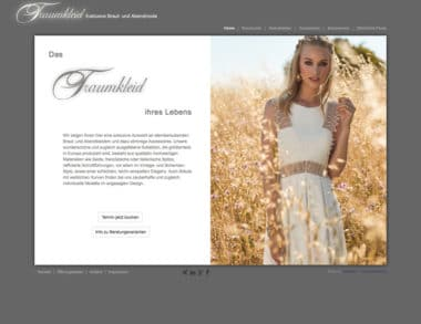 Webdesign für Fashion - Traumkleid Brautmoden