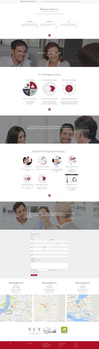 Webdesign Beispiel für Finance - Mademann & Kollegen