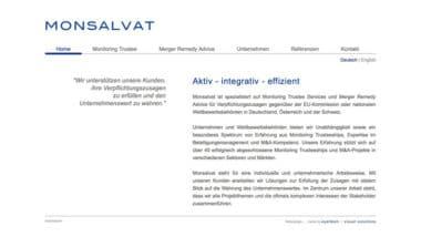 Webdesign Beispiel für Finance - Monsalvat
