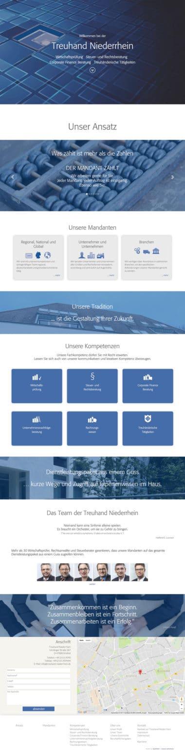Webdesign Beispiel für Finance - Treuhand Niederrhein Wirtschaftsprüfung