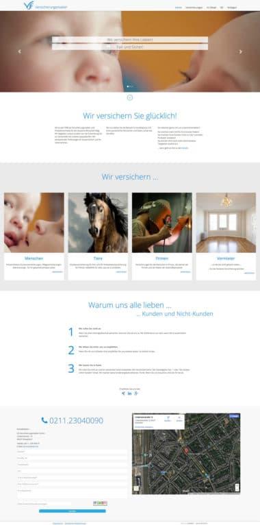Webdesign Beispiel für Finance - VJF Versicherungsmakler