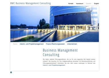 Webdesign Beispiel für Human Resources - Business Management Consulting