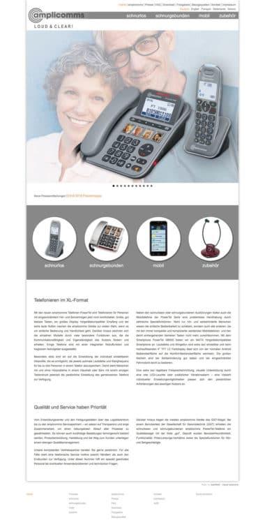 Webdesign für den Handel - amplicomms
