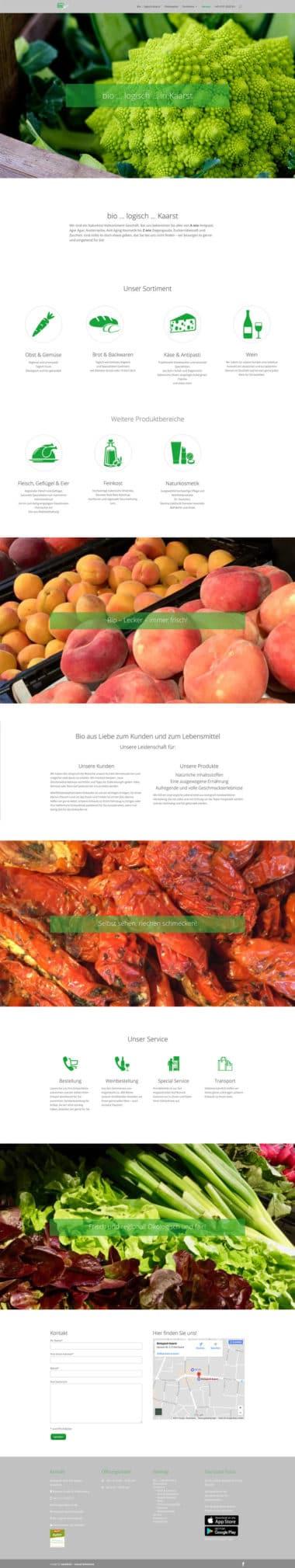 Webdesign für den Handel - bio...logisch Kaarst