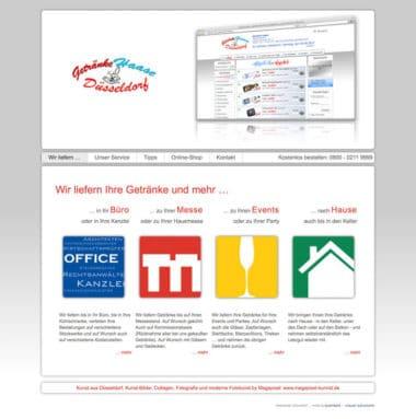 Webdesign für den Handel - Getränke Haase