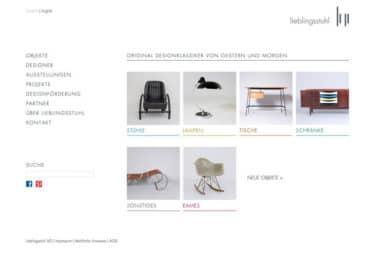 Lieblingsstuhl AG . Webdesign für den Handel