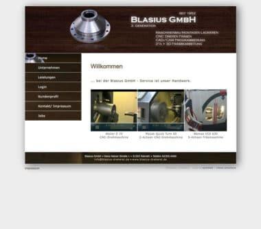 Webdesign Beispiel für Industrie - Blasius Dreherei