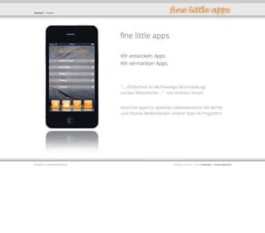 Webdesign Beispiel für Industrie - fine little apps