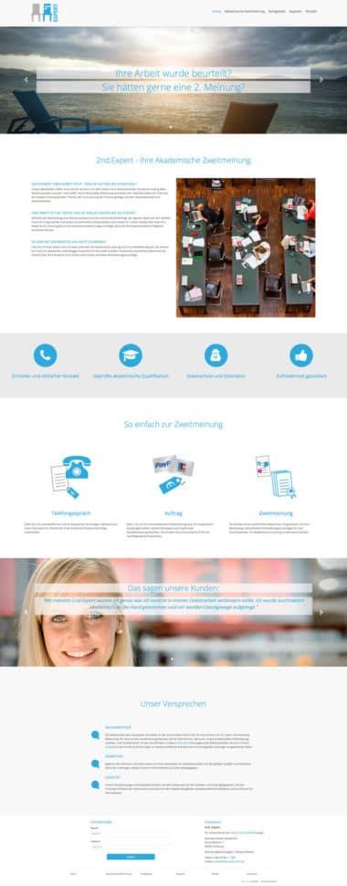 Webdesign für Service - 2nd Expert