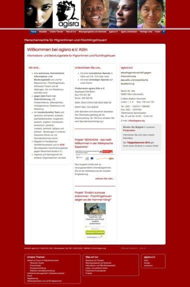Webdesign für Service - agisra