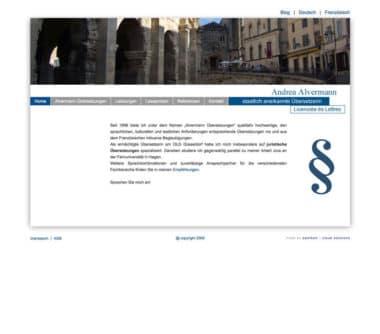 Webdesign für Service - Andrea Alvermann Übersetzungen