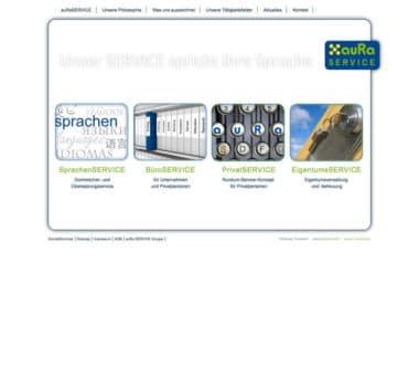 Webdesign für Service - auRa Service