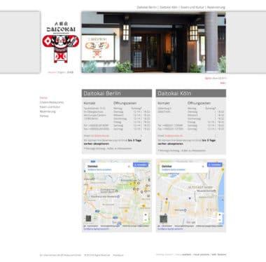 Webdesign für Service - Daitokai