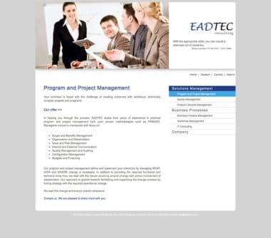 Webdesign für Service - EAD Tec Consulting