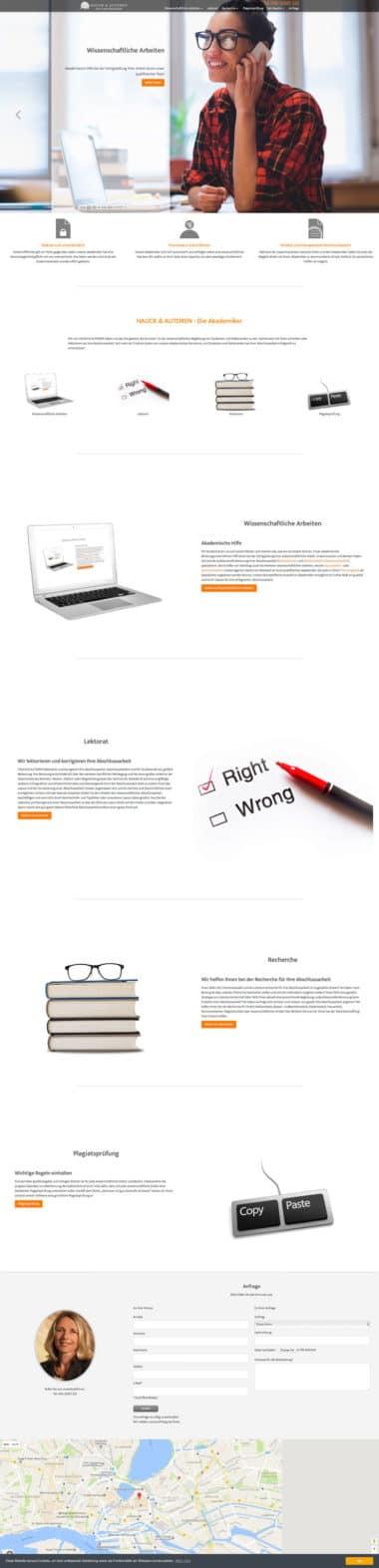 Webdesign für Service - Hauck Autoren