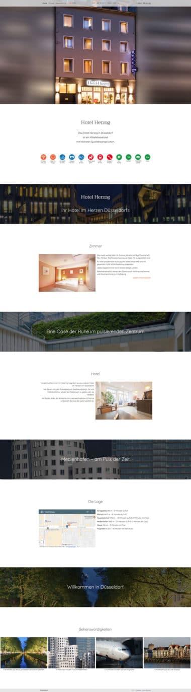 Webdesign für Service - Hotel Herzog, Düsseldorf