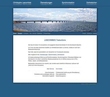 Webdesign für Service - Lascombes Traduciton, Sprachendienstleister
