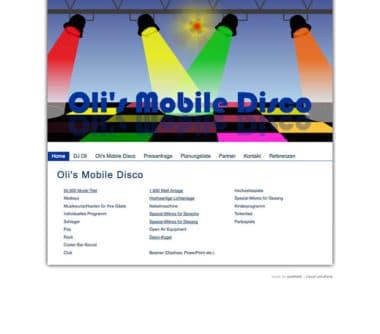 Webdesign für Service - DJ Oli