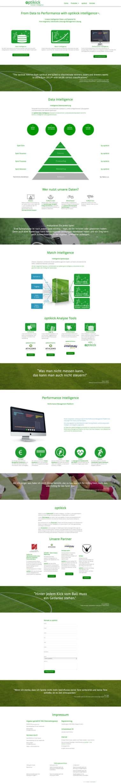 Webdesign für Service - Optikick, Wir sprechen Fußball