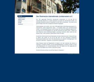 Webdesign für Service - Rheinischer Internationaler Juristenverein e.V.Webdesign Beispiel für Service -