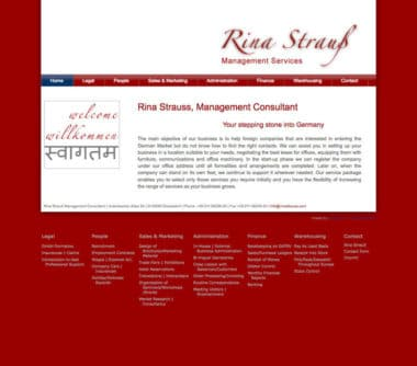 Webdesign für Service - Rina Strauss