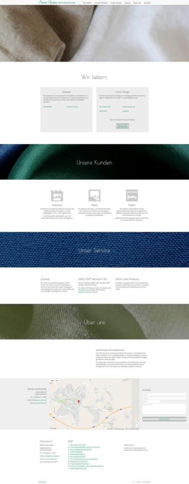 Webdesign für Service - Savoir Wiese Textillvertretung