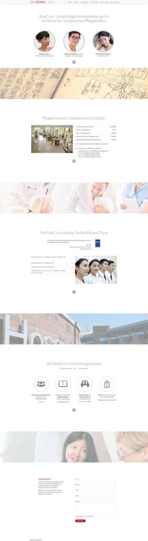 Webdesign für Service - Sinocura