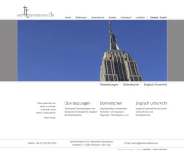 Webdesign für Service - Teck Translation