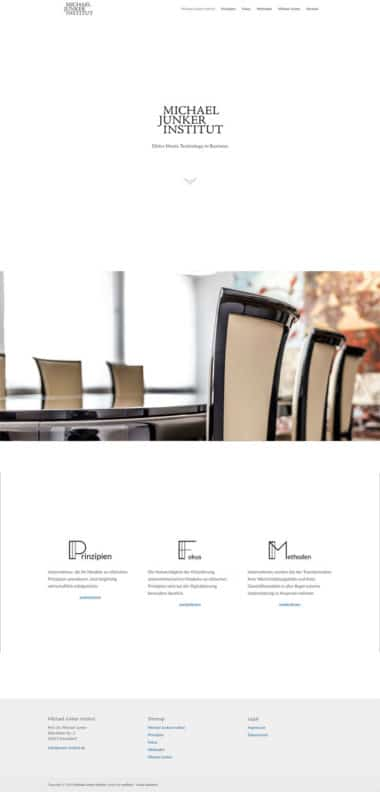 Webdesign für Michael Junker Institut