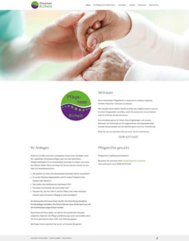 Webdesign für Pflegeteam Richels