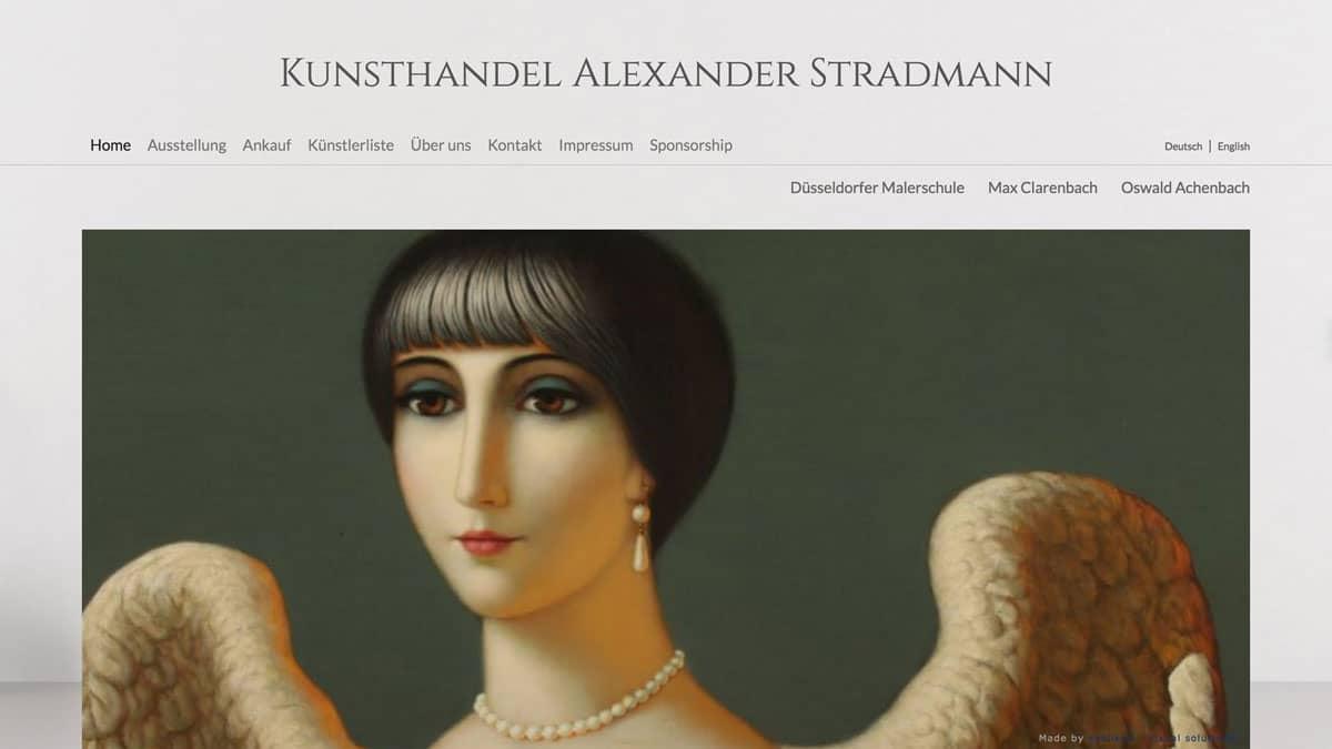 Webdesign für Kunsthändler Alexander Stradmann