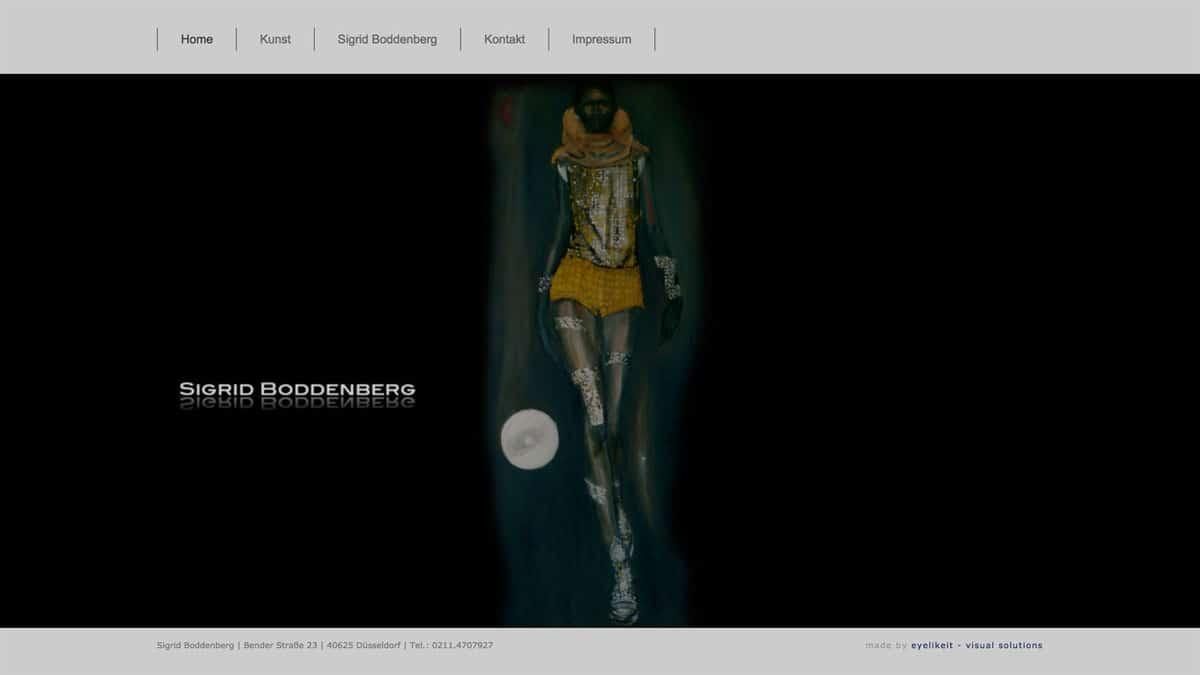 Webdesign für Malerin - Sigrid Boddenberg