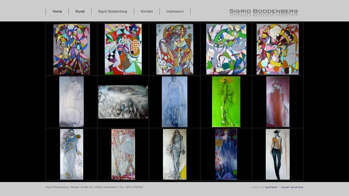 Webdesign für Malerin Sigrid Boddenberg - Gemälde