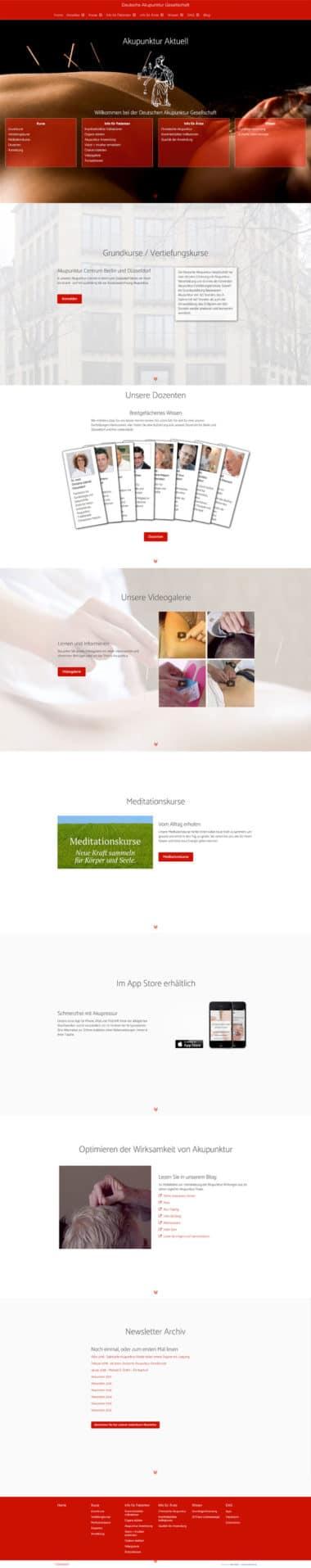 Webdesign für Deutsche Akupunktur Gesellschaft