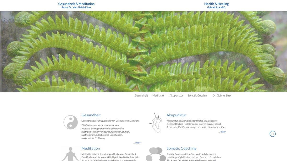 Webdesgin für Akupunktur - Gabriel Stux